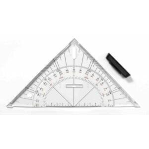 Navigační trojúhelníkové pravítko LENIAR 45 ° / 25 cm