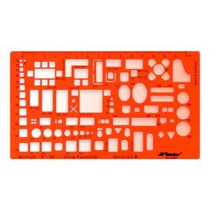 Technická šablona architektonická - nábytek - 1: 100