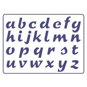 Šablona PENTART A5 - Malé písmo S25
