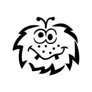 Designová šablona pro děti C. Kreul - Monster