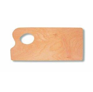 Paleta malířská dřevěná malá