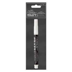 Křídové pero Chalk Kraft - bílá barva