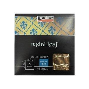 Metalické plátky 140x140mm / různé barvy