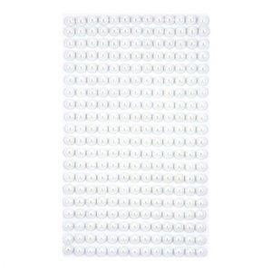 Samolepící perličky 6 mm Off White / 260 ks