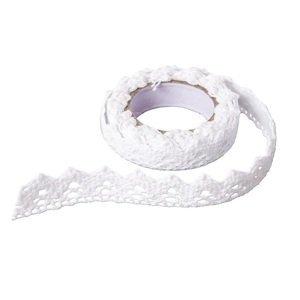 Bavlněná samolepící stuha krajka 1,8 m / White