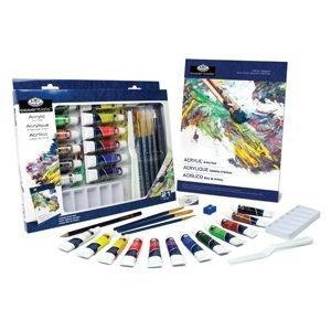 Sada akrylových barev Essentials v papírové krabici / 21 dílná