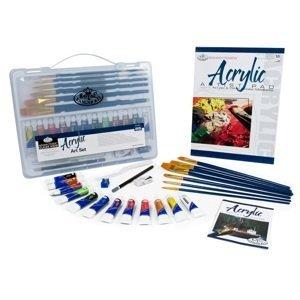 Sada akrylových barev Essentials v kufříku / 25 dílná