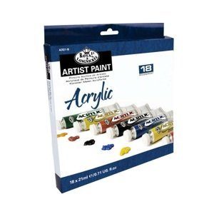 Sada akrylových barev Royal & Langnickel / 18x21 ml