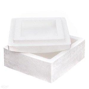 Polystyrénový box čtvercový 13.5 x 13.5 cm