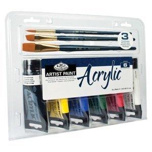 Sada akrylových barev Royal & Langnickel Essentials / 9 dílná
