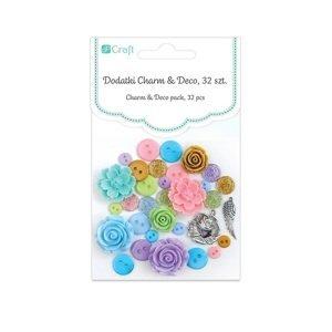 Dekorační doplňky Charm & Deco So Pastel / 32 dílná sada