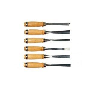 Řezbářské dláta na dřevo / sada 6 ks CHWCS09 (sada dlát na dřevo)