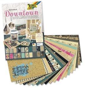 Kreativní papír Folia Downtown 24 x 34 cm / 20 listů (Folia papírový)