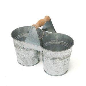 Kovový kbelík dvojitý 22x11 cm (zinková nádoba)