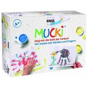 Sada prstových barev MUCKI - Malujme s rukama a prsty (barvy pro děti)