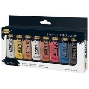 Akrylové barvy Solo Goya Effect / set 8 x 20 ml (akrylové barvy KREUL)