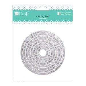 Vyřezávací šablony Circles - sada 8 ks (kovová vykrajovátka)