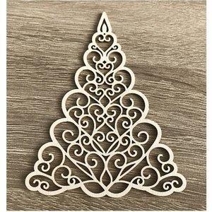 Dřevěný ozdobný výřez vánoční stromek (Dřevěný výřez)