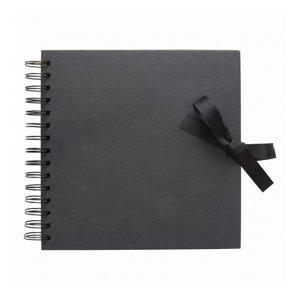 Album na scrapbooking černý / 30 cm (Kniha na dekorování)