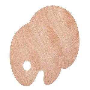 Dřevěná malířská paleta oválná (Dřevěná paleta na míchání barev)