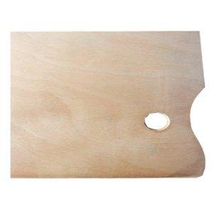 Dřevěná malířská paleta obdélníková (Dřevěná paleta na míchání barev)