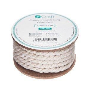 Bavlněná šňůra 4 mm x 5 m (provázek z bavlny)