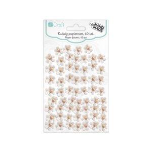 Papírové květy bílé - 60 ks (květy z papíru)