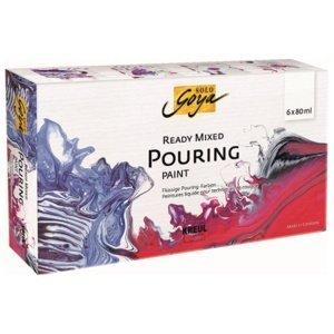 SOLO GOYA Ready Mixed pouring set 6 ks (Hotové barvy pro pouring)