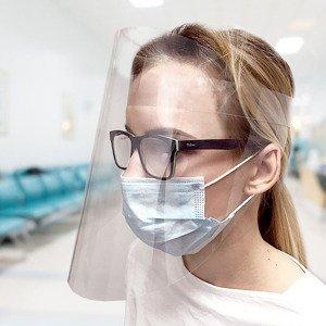Ochranný štít na obličej (ochranný obličejový štít)