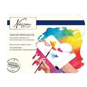 Trhací papírové palety Nassau Fine Art - 40 listů (malířské palety)