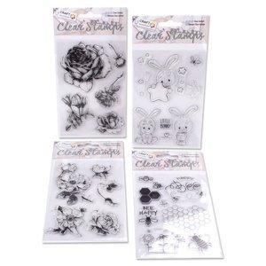Transparentní razítka Craft Sensations (silikonová razítka)