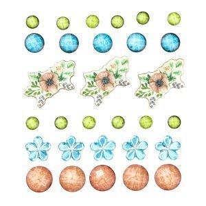 Samolepící ozdobné krystalky 30 ks (samolepicí ozdoby)