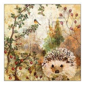 Eko ubrousky na dekupáž Autumn Hedgehog - 1ks (ubrousky na dekupáž)