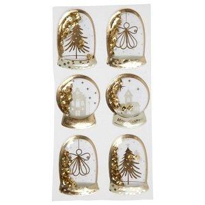 Vánoční nálepky Merry Christmas (dekorační nálepky)
