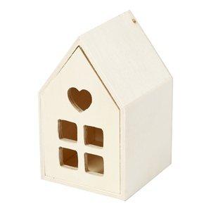 Dřevěný domek (dřevěný výrobek k dotvoření)