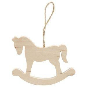 Dřevěný koník - vánoční ozdoba (dřevěný výrobek k dotvoření)