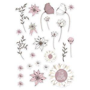 Štítky s květinovými motivy (výrobky na scrapbooking)