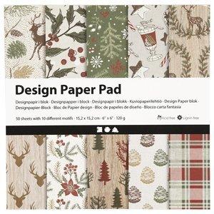 Papír na scrapbooking Christmas 15.2 x 15.2 cm - 50 listů (kreativní)