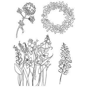 Transparentní razítka - jaro (silikonové razítka)
