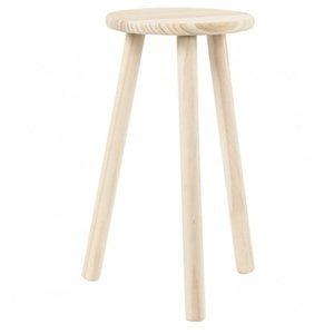 Kulatá stolička na dotvoření se třemi nohami (dřevěná židle)