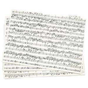 Kreativní papír s hudební potiskem A4 (Papír na scrapbooking)