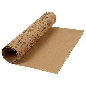 Papír z umělé kůže - flowers (kožený papír vhodný na dotvoření)