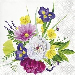 Ubrousky na dekupáž Flower Bouquet - 1 ks (ubrousky na dekupáž)