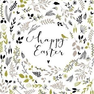 Ubrousky na dekupáž Happy Easter green - 1 ks (ubrousky na dekupáž)
