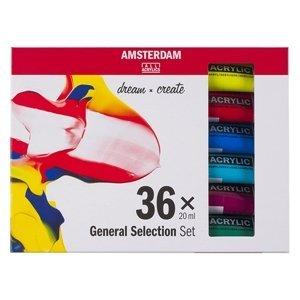 Sada akrylových barev AMSTERDAM dream and create 36 x 20 ml (sada)