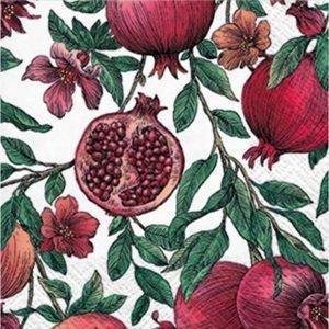 Ubrousky na dekupáž Pomegranate - 1 ks  (ubrousky na dekupáž)