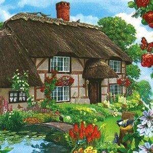 Ubrousky na dekupáž Countryfield Cottage - 1 ks (ubrousky na dekupáž)