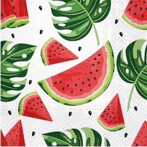 Servítky na dekupáž Tasty Watermelons - 1 ks (ubrousky na dekupáž)