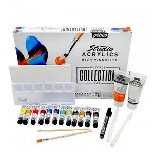 PEBEO Studio Acrylics Box s příslušenstvím 23 ks (Box s akrylovými)