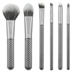 Sada kosmetických štětců Metalické stříbrné (Sada štětců na make up)